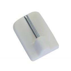 Önt. kampó vitrázshoz 11mm Fehér