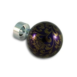 Gömb Ornament orgonalila Króm